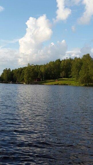 Our lake, Åklangen, at the cottage