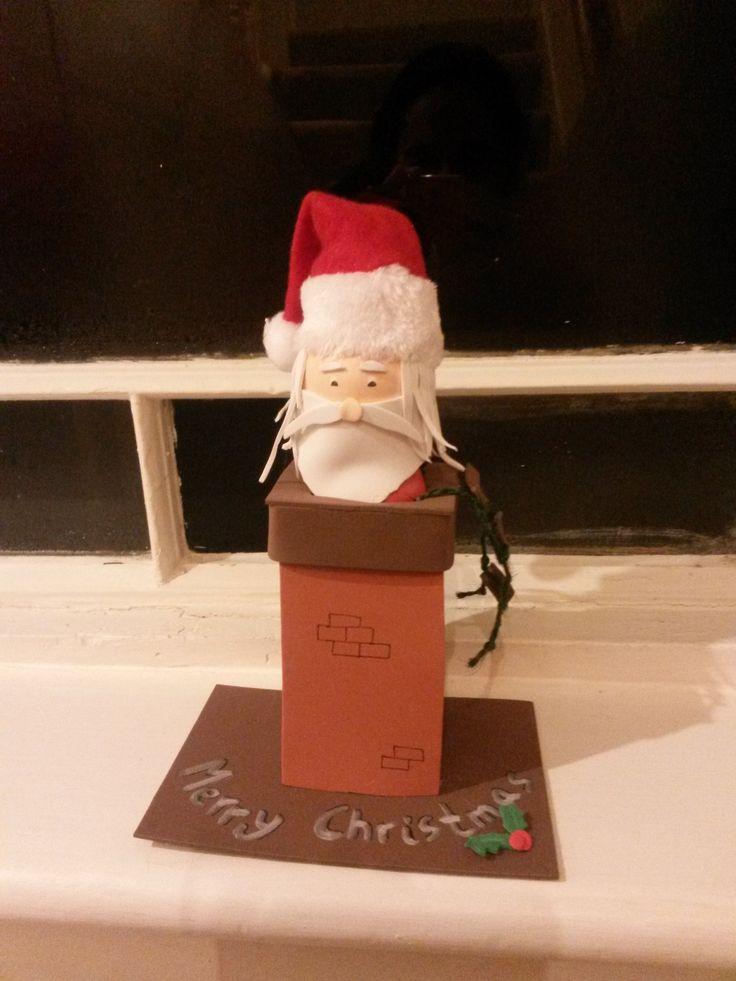 Papá Noel con chimenea