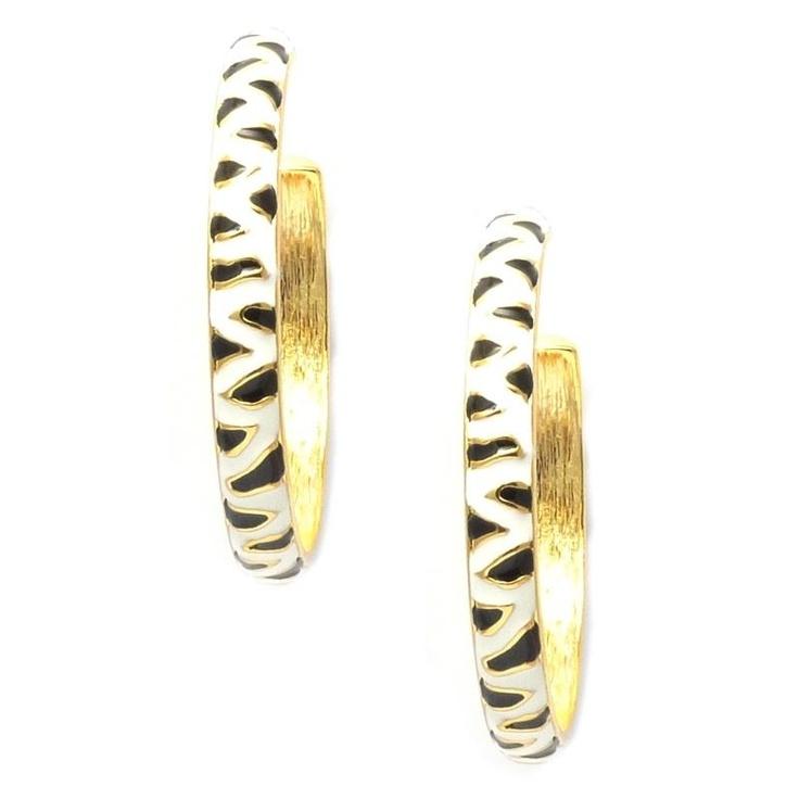Kenneth Jay Lane Zebra Stripe Earrings