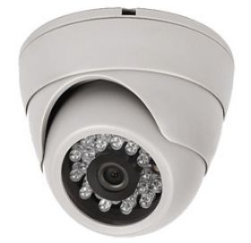 """Camera de supraveghere EV-IRDOM-ANTIVANDAL-S01 pentru interior dotate cu senzor 1/3"""" SONY CCD si 420 linii TV. Sunt capabile sa ilumineze pana la 20 m pe timp de noapte."""