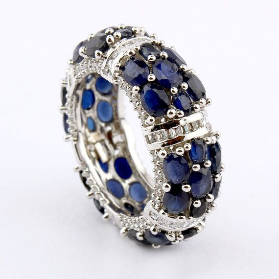 Jewelry: Ring Item Code: CNZ-20020C  Metal: .Sterling Silver  Metal Purity: 925  Stone 1 :- Synthetic Blue Sapphire  Stone 2 :- Cubic Zircon