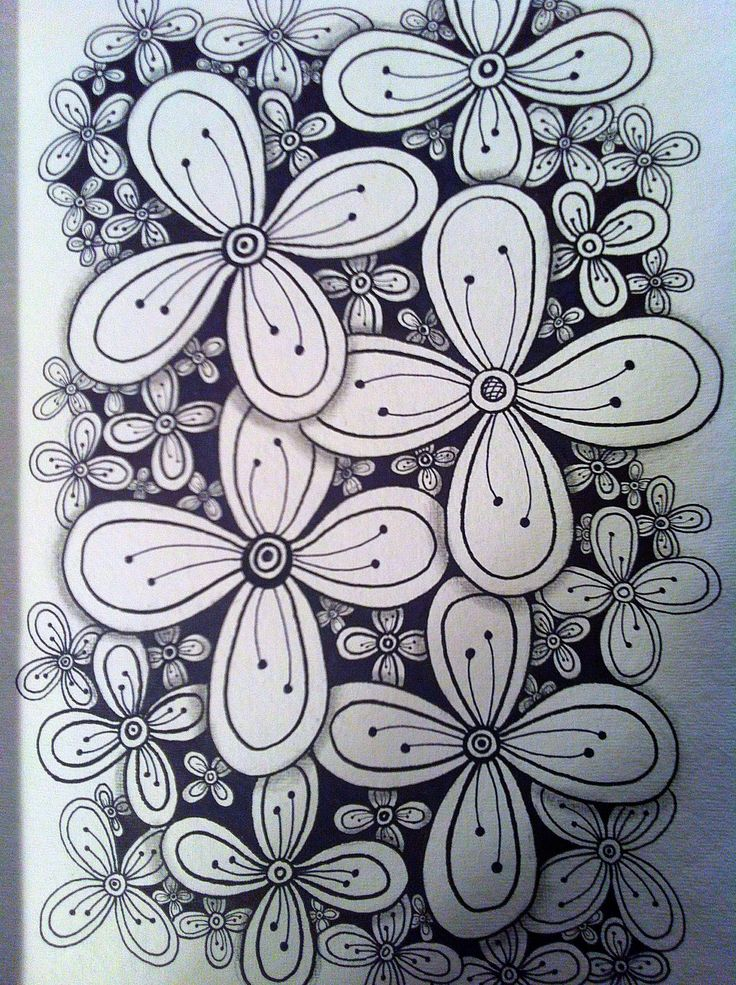 Zen flowers -I need to start drawing things like this. Looks so relaxing.