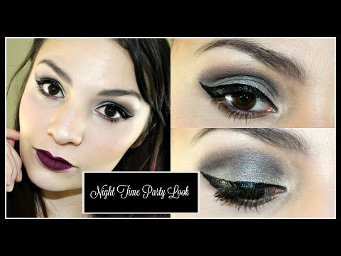 Night Time Party Look Tutorial - YouTube