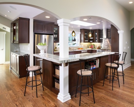 Galley Kitchen Remodel Remove Wall Amazing Removing A Load Bearing Design Pictures Decor And