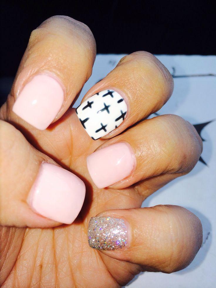 Acrylic gel nail... @thecolorpink nail art