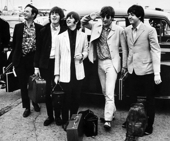 The Beatles with manager Brian Epstein 1966