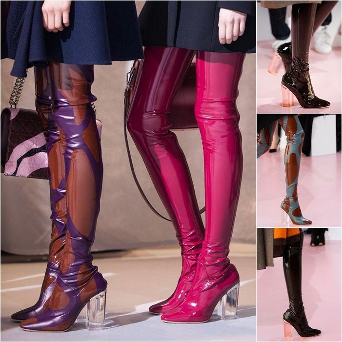 It-вещь: лакированная обувь Dior с прозрачным каблуком | СПЛЕТНИК