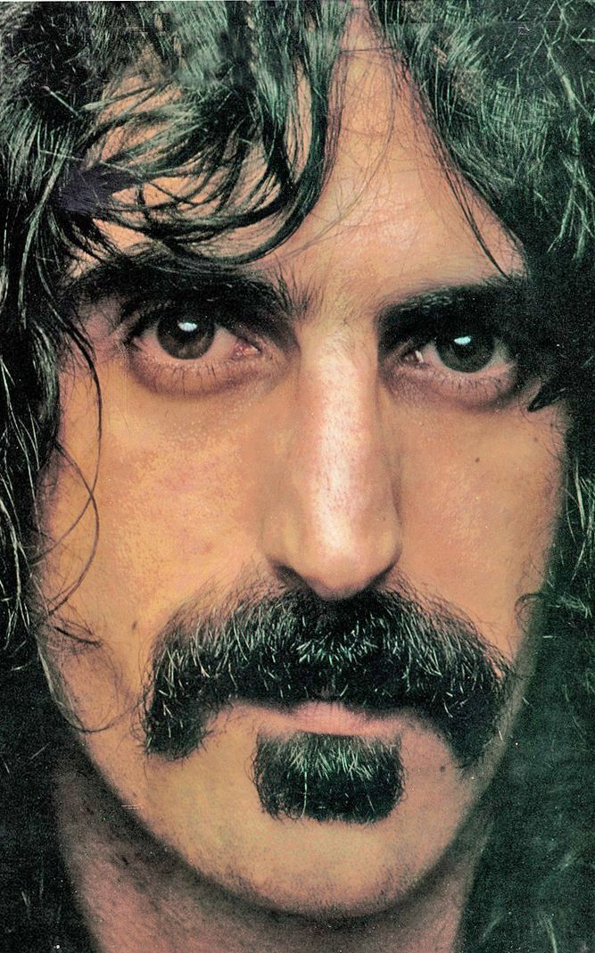 Frank Zappa - genius!! ..yeah, but how'd he get his 'stache so shiny?! wait, maybe I don't wanna know --RC