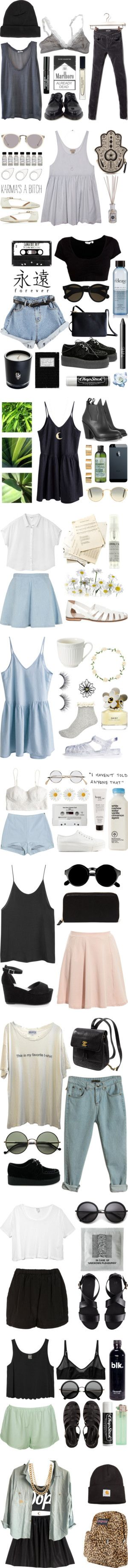 Minus the ciggies and the chains, I love pretty much every outfit...and usually I hate hipster fashion!