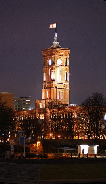 Clock tower, Berlin, Germany  by mouseshadows, via Flickr