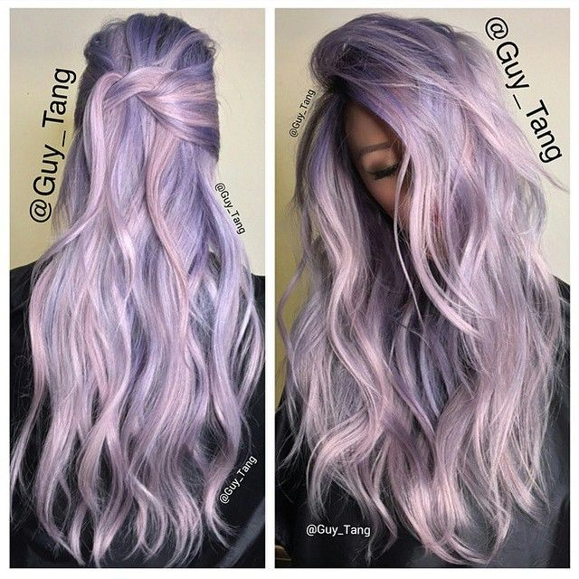 Icy lavender and rose tones using @schwarzkopfusa Igora Professional #pearlescence in P9,5-29 and P9,5-89 (video featuring these colors). @Lynna Nguyen #guytang @Vera Koch