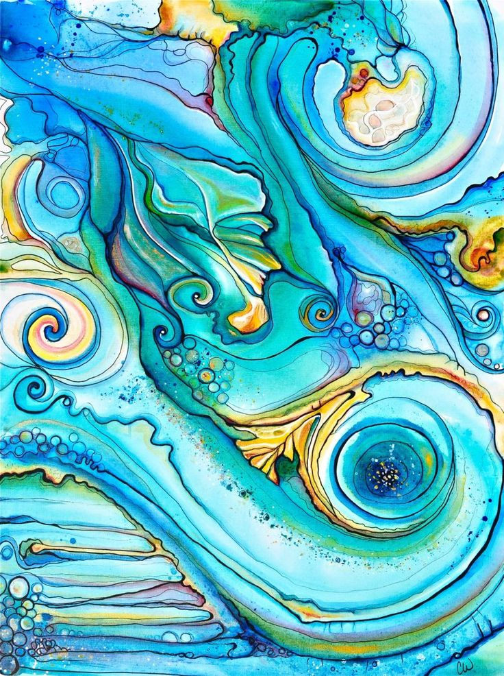 Tidal Drift    Abstract shapes and colors inspired by Hawaiian tidepools