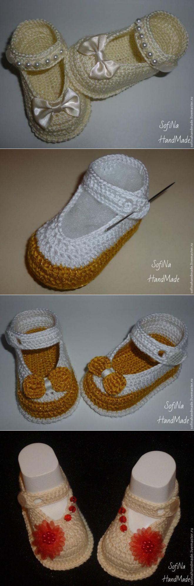 Botines, zapatos, de punto - Artesanía