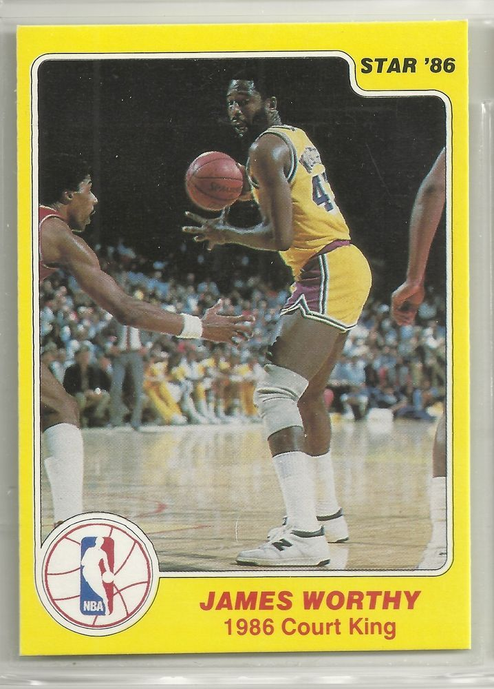 James Worthy 1986 Star Company Los Angeles Lakers Court Kings NBA Card #33/33 #LosAngelesLakers