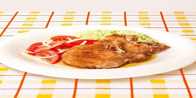 Chuletas de Cerdo con Crema de Habas, una receta muy fácil de preparar y muy sabrosa!!