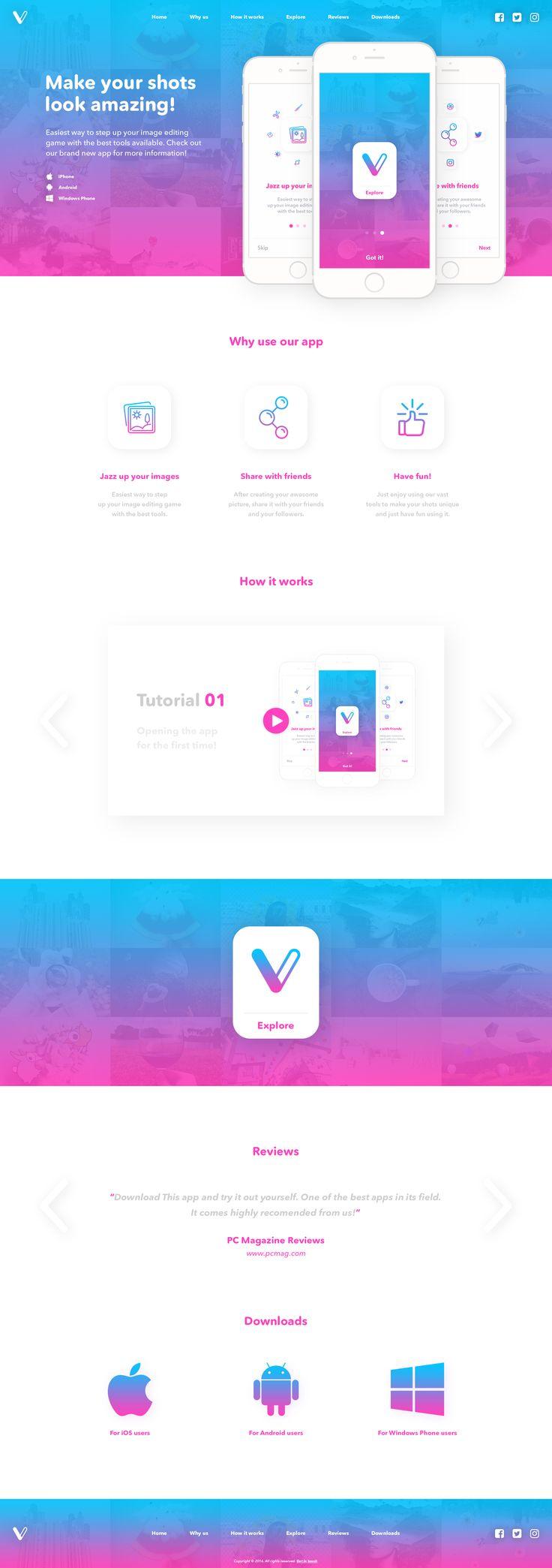 V - Landing Page