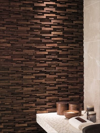 Wood Modul Tiles.  Amazing wooden tiles!  Buy Porcelanosa tiles from UK Bathrooms:  sales@ukbathrooms.com