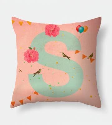 Letter S pillow
