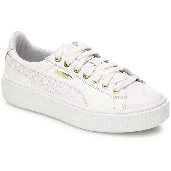 Puma Basket Patent Leather Platform Sneaker