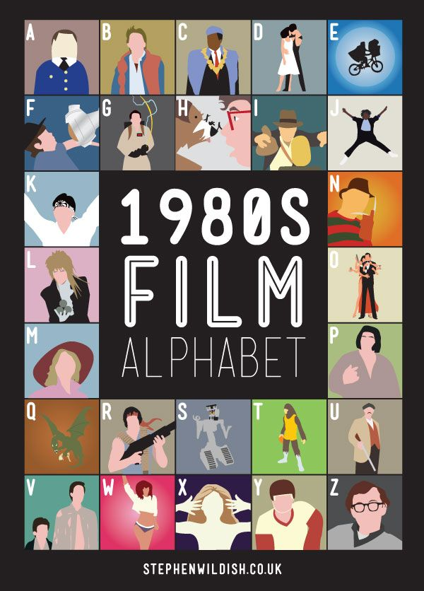 1980s Film Alphabet by Steven Wildish