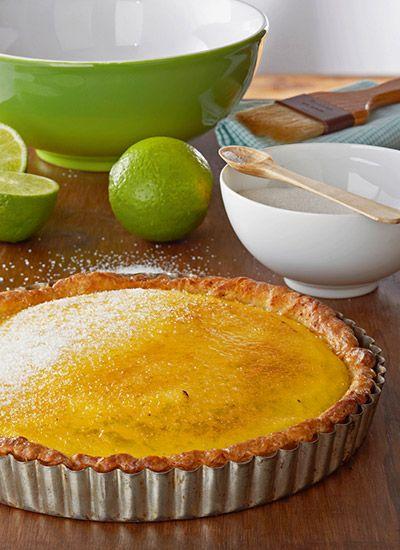 Tarta brulé de limón
