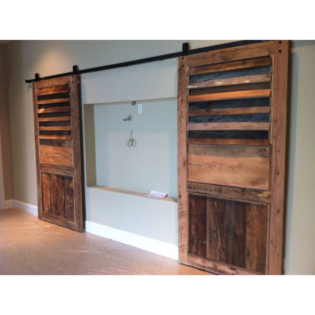Barn Doors To Cover Tv Wall Nook Todd Manring Designs