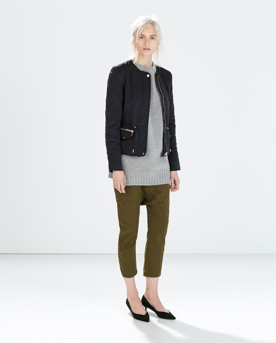 SHORT QUILTED JACKET Zara fashion Pinterest What is Quilted