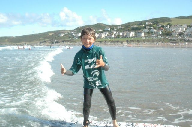 How cool do I look?! Great surf in Woolacombe.  Woolacombe Sands Holiday Park  https://www.campsitechatter.com/campsites/pinboard/Woolacombe-Sands-Holiday-Park/5779562952439790689
