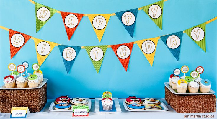 I ended up ordering the electronic printable files that this Etsy seller made. I was able to print the Happy Birthday banner and all sorts of personalized printables with John's name and age.