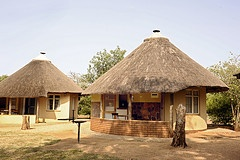 The typical Rondavel accommodation the camp is known for  Satara Rest Camp in the Kruger National Park South Africa