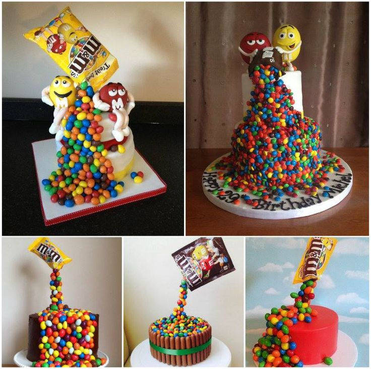 """<input class=""""jpibfi"""" type=""""hidden"""" >How cool is this Gravity Defying M&M Candy Cake ! This amazing, gravity defying cake actually looks like there's a packet of m&m's suspended above, pouring down onto the cake. It's easy to make if you follow the video tutoiral. Amaze all your guests, young or old, with this M&M Gravity Defying Rainbow Cake now…"""