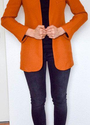 Kaufe meinen Artikel bei #Kleiderkreisel http://www.kleiderkreisel.de/damenmode/blazer-blazer/148124563-langer-blazer-in-orange-von-zara-businessblazer