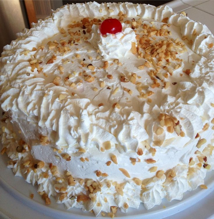 Preheat oven to 350 degrees. Grease and flour two 9inch round tins. BUTTER RUM CAKE 3 cups sifted cake flour 3-1/2 tsp baking powder 1/2 tsp salt Mix in a small bowl, set aside 3/4 cup unsalted, ro...