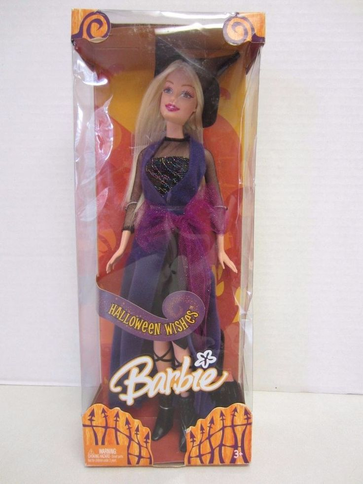 Barbie Halloween Wishes Doll Witch 2005 Mattel NRFB #Barbie