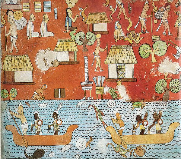 17 best images about art of ancient meso america on for Aztec mural painting