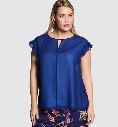 66130fb29429 Modelos de blusas de vestir para damas gorditas | ropa plus | Blusas ...