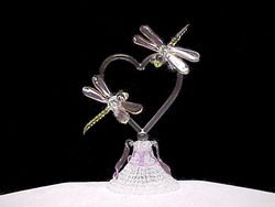 dragonfly glass cake topper <3 love this <3