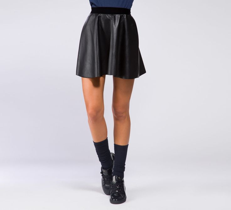 WGN132 - Cycle #cyclejeans #leather #skirt #love #style #fashion #girl #model #legs