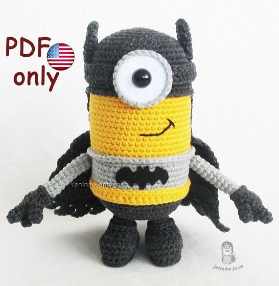 10 mejores imágenes de Batman Minion Flying Hero amigurumi crochet ...