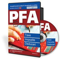Legislatia despre PFA - modificata in 2016 PFA: Taxe, Impozite si Deduceri  - conform Noului Cod Fiscal - Totul despre PFA asa cum prevede legislatia aflata in vigoare in acest moment