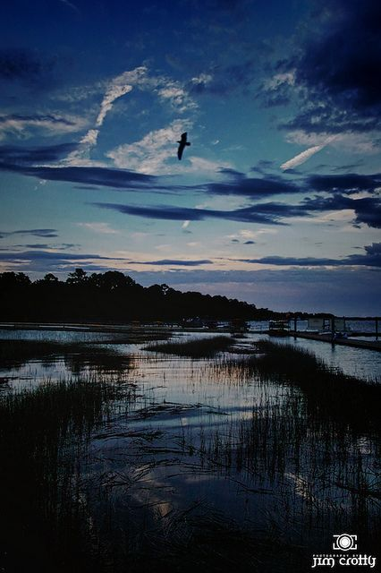 After sunset, Hilton Head Island, South Carolina