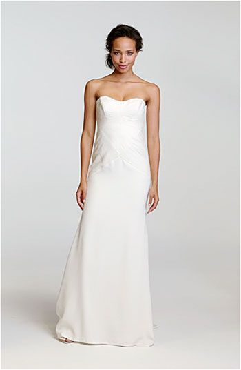 Nicole Miller Pleated Bodice Silk Charmeuse Gown #Nordstrom #Wedding