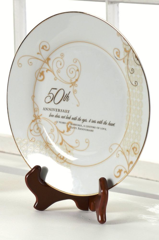 roman inc 50th wedding anniversary plate gifts anniversary occasions special