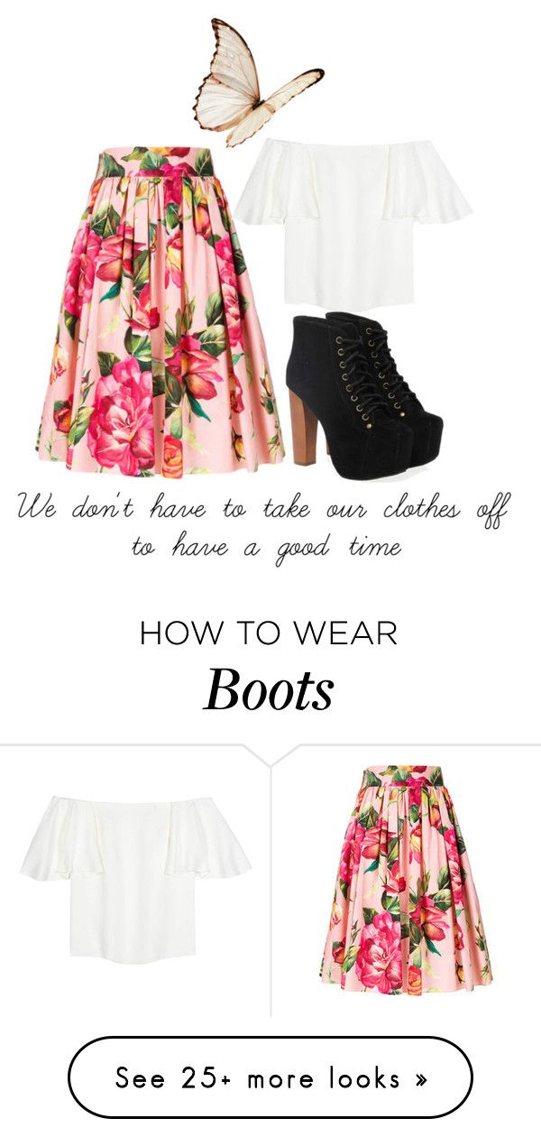 """Ellie"" by bblevins95 on Polyvore featuring Dolce&Gabbana, Valentino and Jeffrey Campbell"