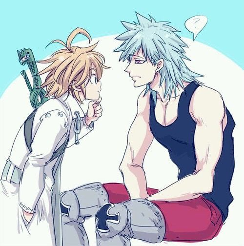 "Nanatsu no taizai | Ban & Meliodas | ""Where can I put a scar..."""