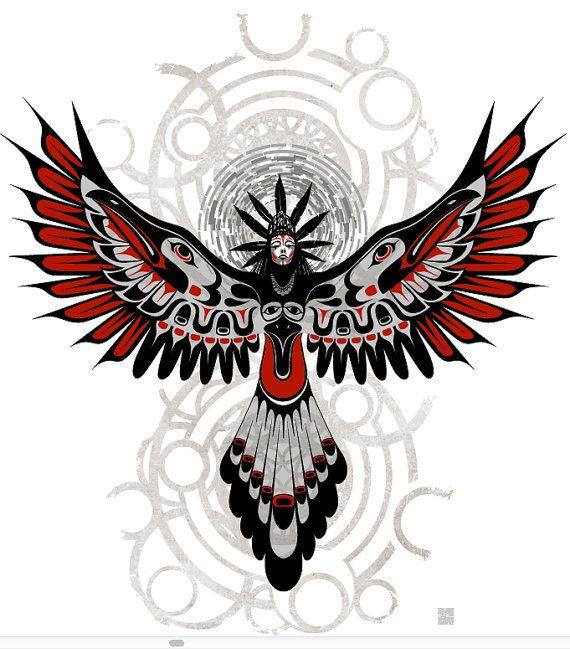 Divine Crow Shaman 11X14-Haida Fine Art print-Giclee Illustration-poster art – Miguel Angel Amores