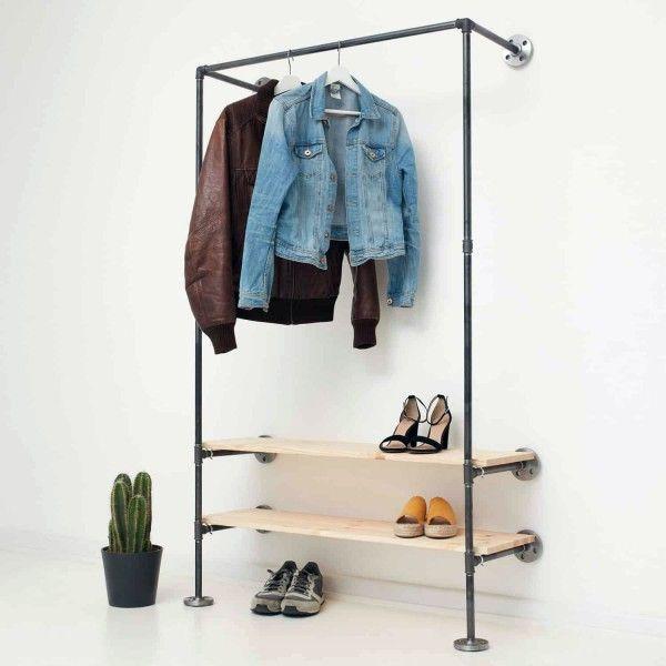 Industrial Regal Kleiderschrank Wasserrohre Industriedesign