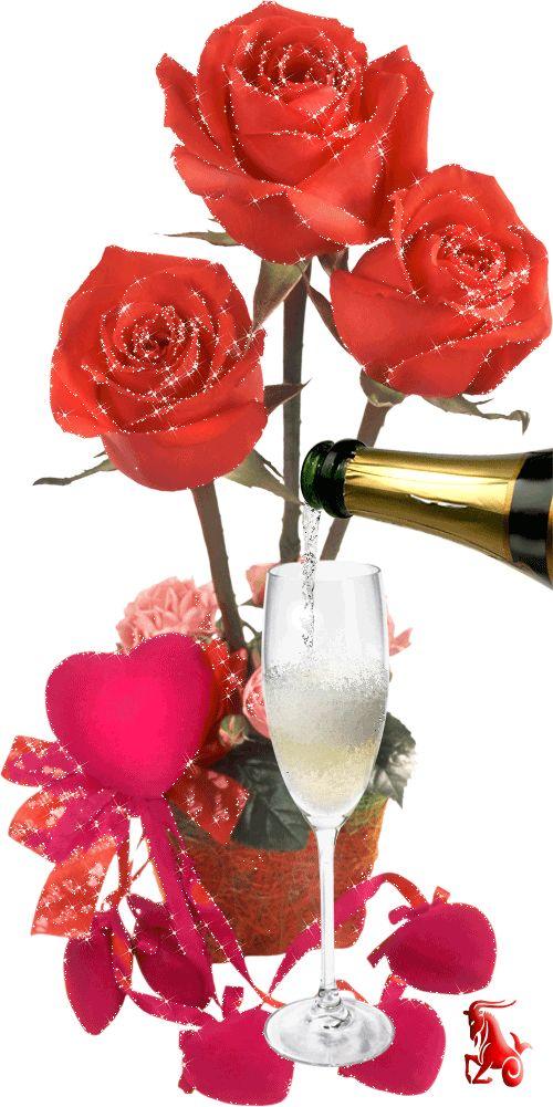 Bebida e flores