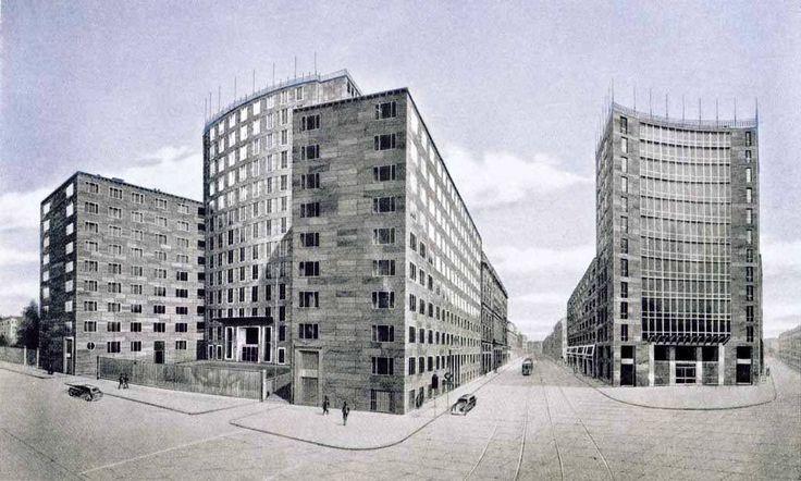 gio ponti, PALAZZO MONTECATINI, Milano, Italy, 1935-38, 1947-51