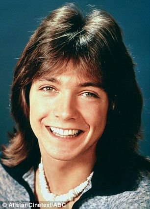 As a teenager David bagged the part of heart-throb Keith Partridge in The Partridge Family... shown here in 1970